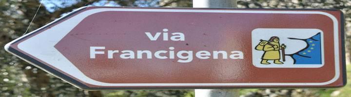 cartello via francigena